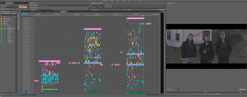 making of clip musique freddys montage