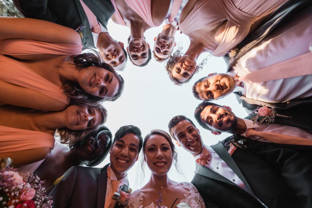 portrait de tous les témoins et démoiselles d'honneur pour un mariage à cuers