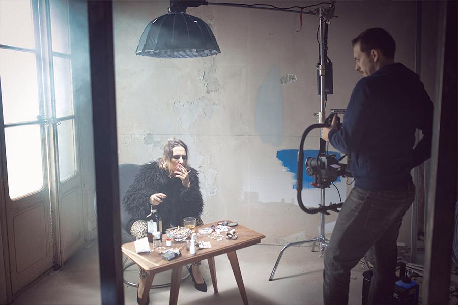 photo making of du tournage du clip de musique à toulon pour raoul petite