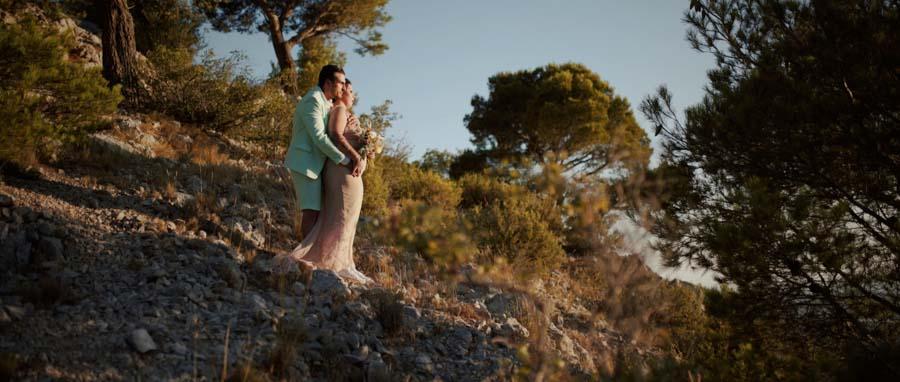 Vidéo Mariage alternatif Toulon Var Provence séance couple dans la nature