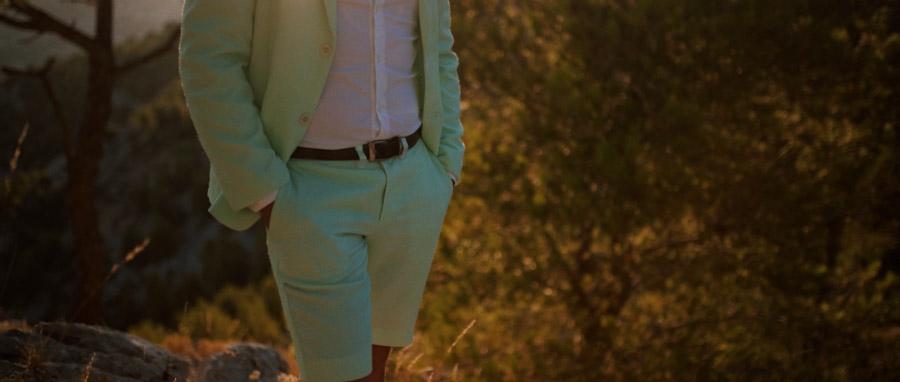 Vidéo Mariage alternatif Toulon Var Provence costume vert d'eau