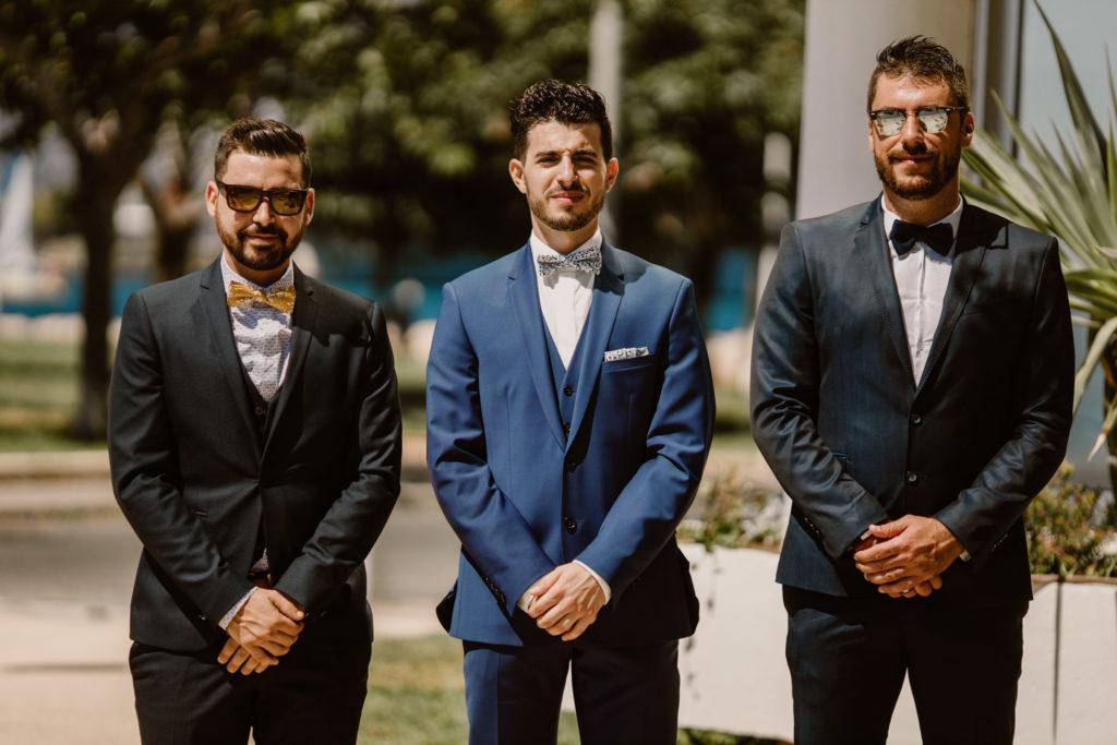 Portrait des témoins du marié à Toulon