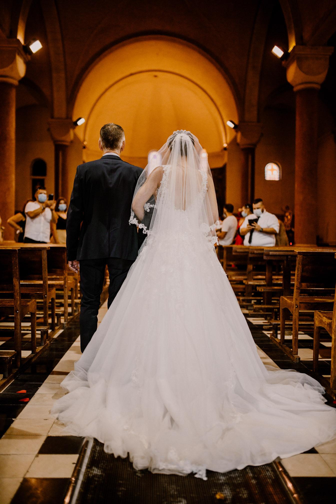Mariage à l'église Sainte Jeanne d'Arc à Toulon