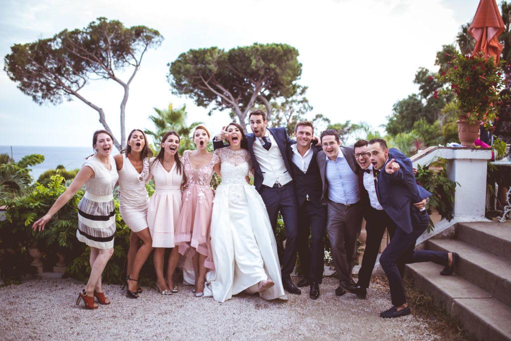 groupe lors d'un mariage aux pins penchés à toulon