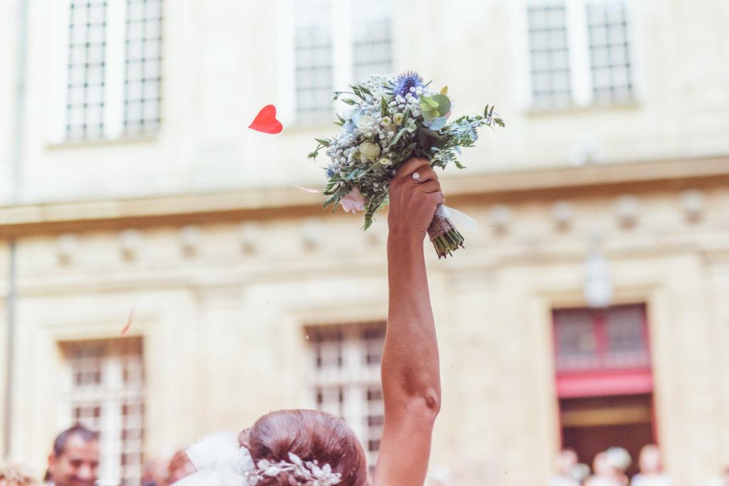 mariage à aix en provence bouquet de fleurs