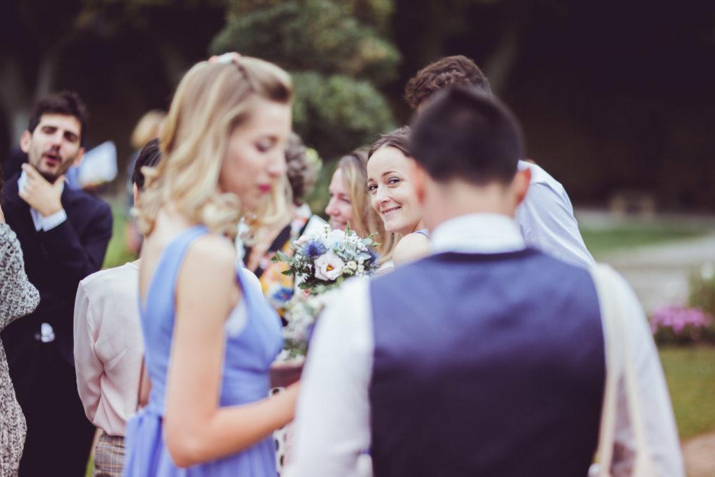 portrait d'invités à un mariage à aix en provence