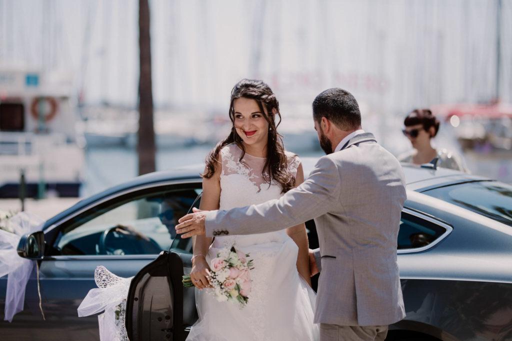 photographe de mariage à six-fours île du gaou voiture