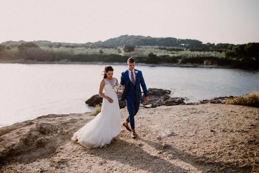 photographe de mariage île du gaou robe costume