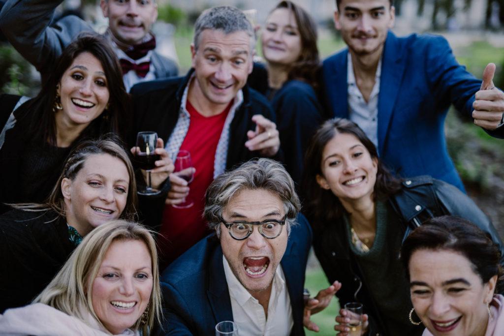 photobooth des invités lors d'un mariage en provence