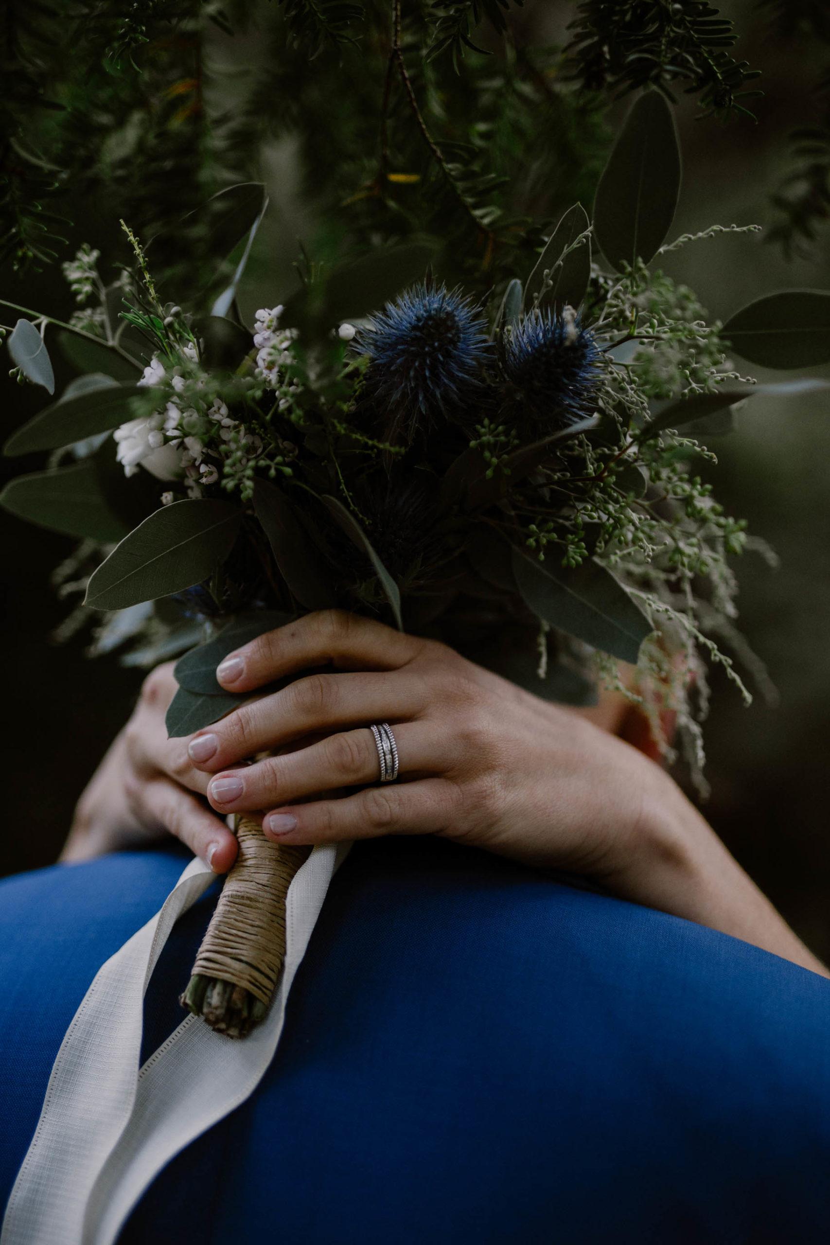 bouquet et alliance réunis