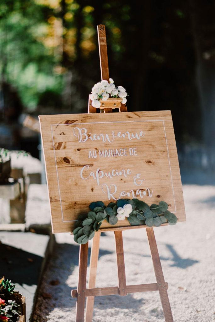 panneau décoration mariage demeure de cancerilles