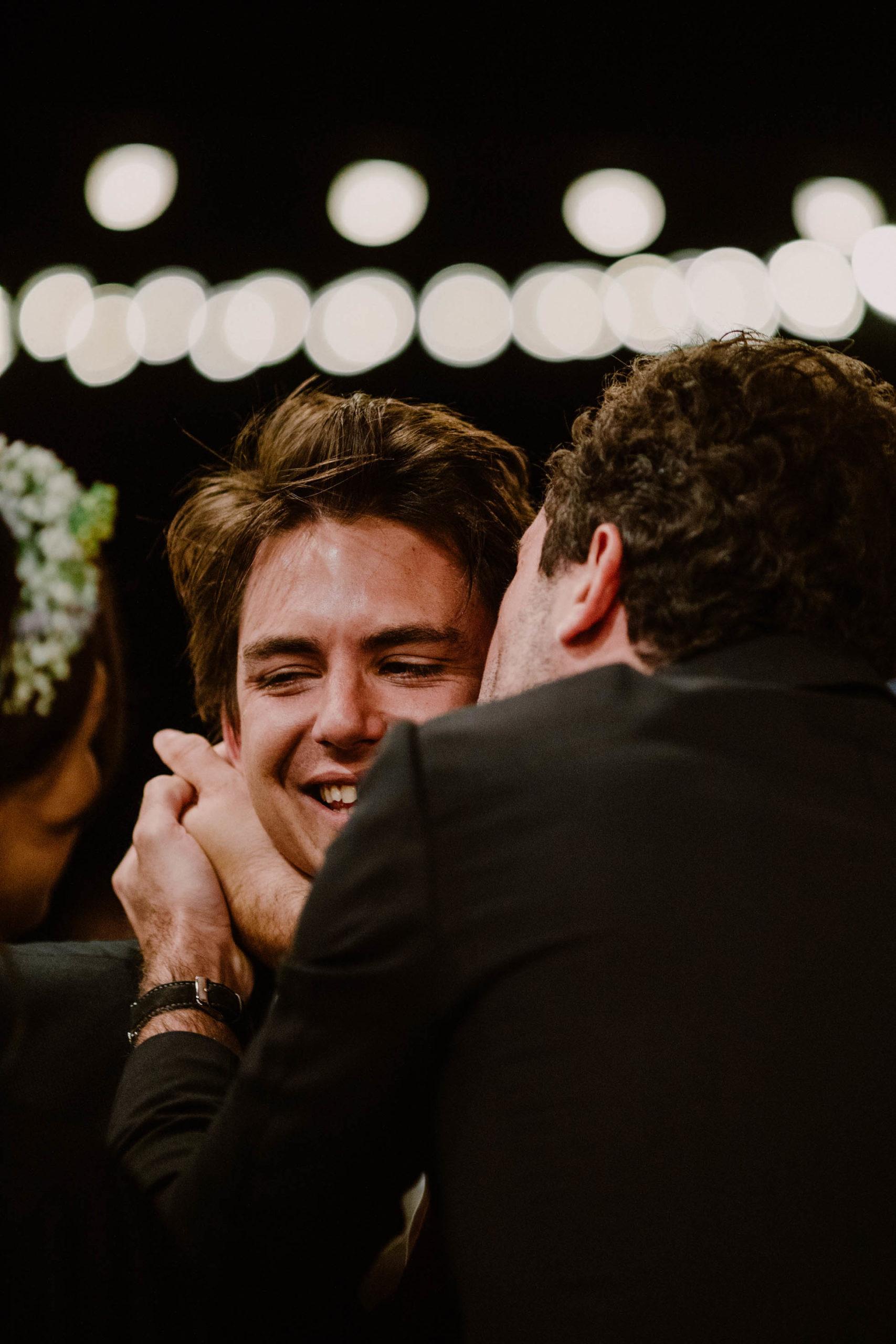 le marié est ému pour son mariage au domaine du mont leuze